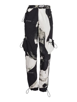 OFF-WHITE printed cargo trousers