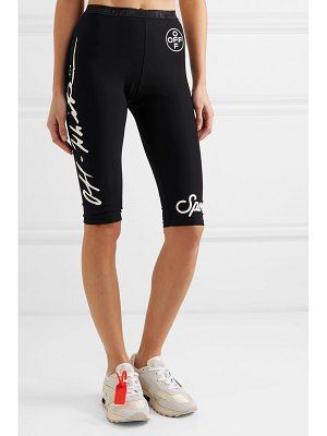 OFF-WHITE printed stretch leggings