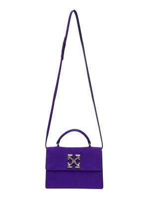 OFF-WHITE purple suede jitney 1.4 bag