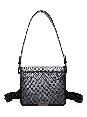 OFF-WHITE PVC Net Flap Crossbody Bag