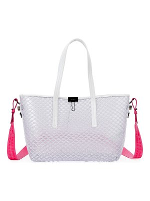 OFF-WHITE PVC Net Shopper Tote Bag