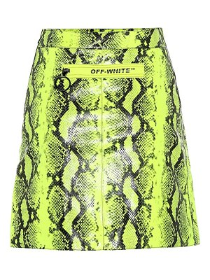 OFF-WHITE python-printed leather miniskirt