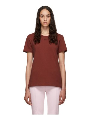 OFF-WHITE red flowers t-shirt
