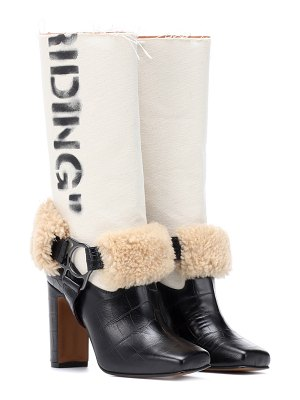 OFF-WHITE riding leather boots