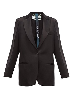 OFF-WHITE single breasted satin blazer