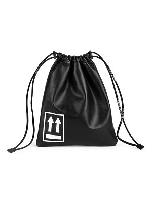 OFF-WHITE small leather drawstring satchel