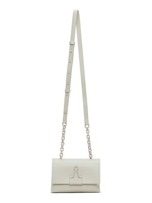 OFF-WHITE small soft binder clip bag
