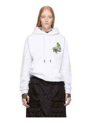 OFF-WHITE ssense exclusive white racing arrows hoodie