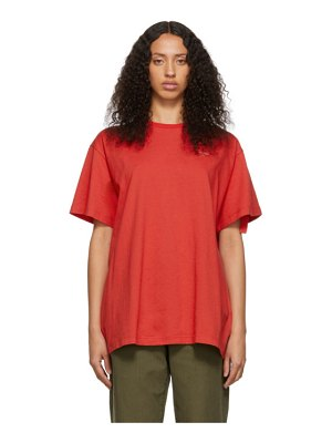 OFF-WHITE ssense exclusive red unfinished backbone t-shirt
