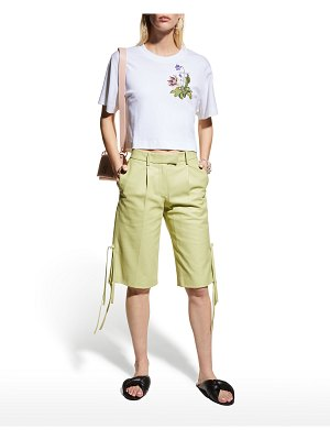 OFF-WHITE Strings Leather Bermuda Shorts