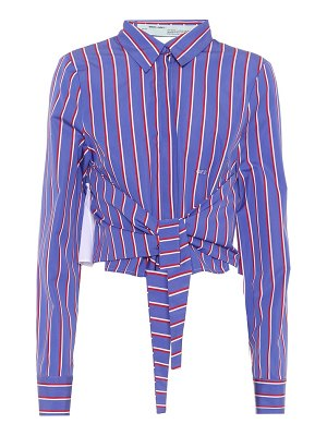 OFF-WHITE striped cotton shirt