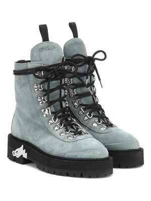 OFF-WHITE suede ankle boots