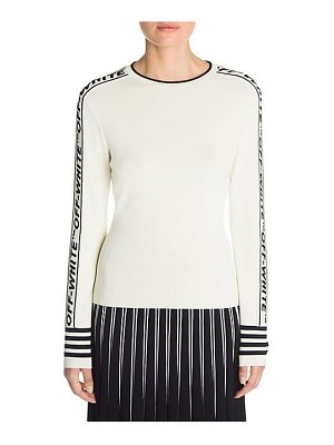 OFF-WHITE tennis knit crewneck sweater