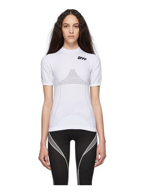 OFF-WHITE white and black athletic t-shirt