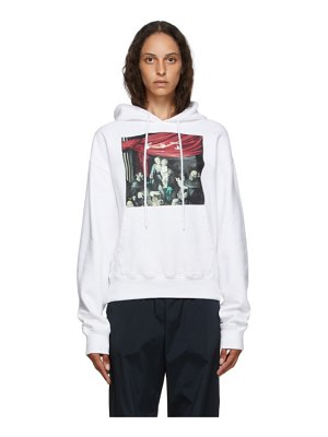 OFF-WHITE white caravaggio arrows hoodie
