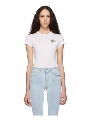 OFF-WHITE white carryover fitted t-shirt