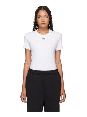 OFF-WHITE white fitted t-shirt