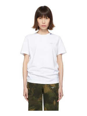 OFF-WHITE white unfinished slim t-shirt
