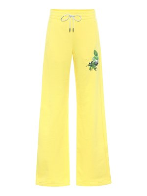 OFF-WHITE wide-leg cotton trackpants