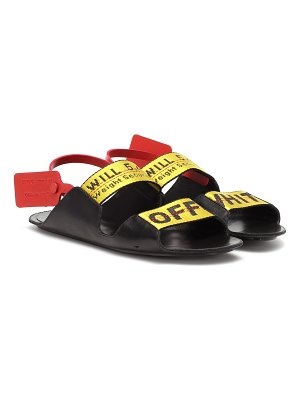 OFF-WHITE zip tie leather sandals
