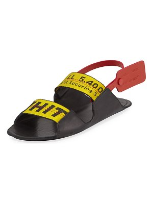 OFF-WHITE Zip Tie Leather Slingback Sandals