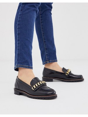 Office fanella chunky flat loafer with chain detail-black