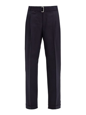 Officine Générale pierre pleated wool-twill straight-leg trousers