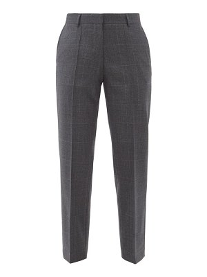 Officine Générale roxane checked wool tapered-leg trousers