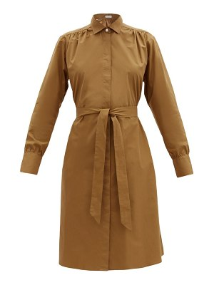 Officine Générale virginie waist-tie cotton-poplin shirt dress