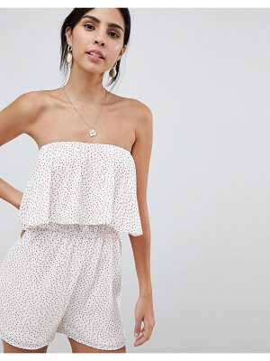 OH MY LOVE Bandeau Frill Romper
