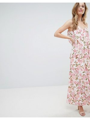 OH MY LOVE cami maxi dress with frill detail-multi