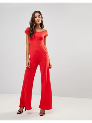 OH MY LOVE Flare Bardot Jumpsuit