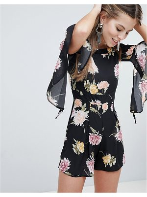 OH MY LOVE Floaty Off The Shoulder Printed Romper
