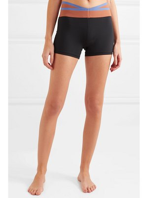 Olympia Activewear naxo striped stretch shorts
