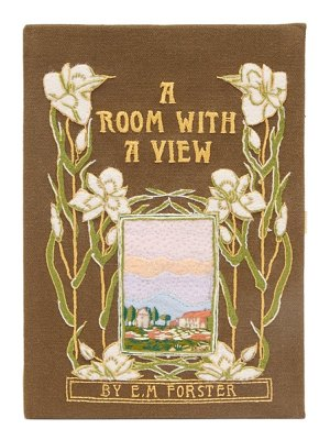 Olympia Le-Tan a room with a view embroidered book clutch