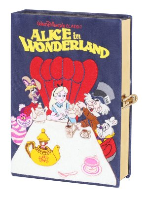 Olympia Le-Tan Alice in Wonderland Book Clutch Bag with Strap