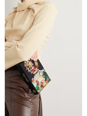 Olympia Le-Tan arcimboldo embroidered appliquéd canvas clutch