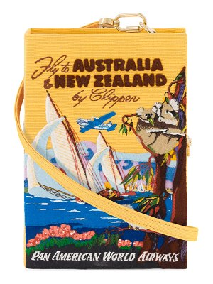 Olympia Le-Tan Australia & New Zealand Strapped Book Clutch Bag