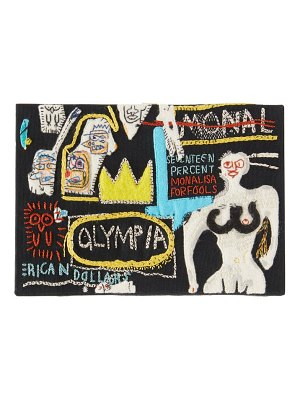 Olympia Le-Tan basquiat olympia-embroidered canvas clutch