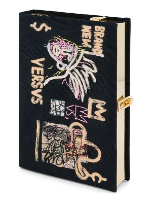 Olympia Le-Tan Basquiat Versvs Artwork Book Clutch Bag with Strap