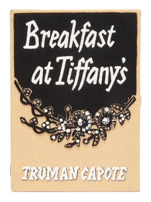 Olympia Le-Tan breakfast at tiffany's embroidered book clutch