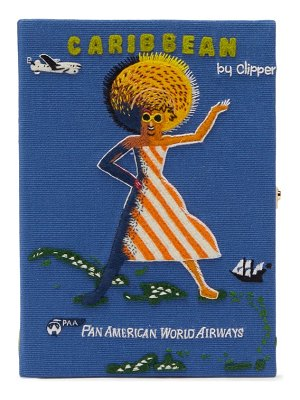 Olympia Le-Tan pan american airways embroidered book clutch