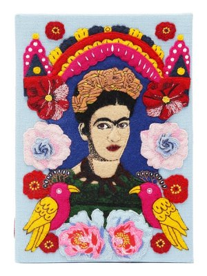 Olympia Le-Tan frida embroidered book clutch