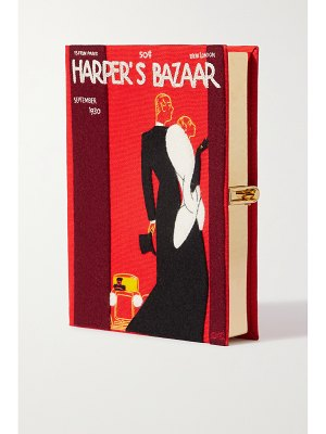 Olympia Le-Tan harper's bazaar embroidered appliquéd canvas clutch - one size