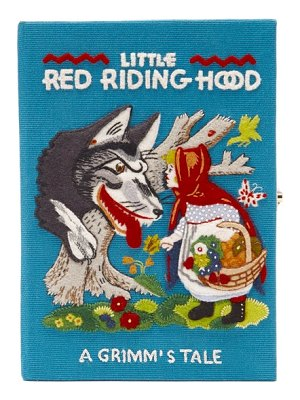 Olympia Le-Tan little red riding hood embroidered book clutch