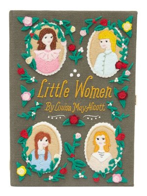Olympia Le-Tan little women embroidered appliqué book clutch