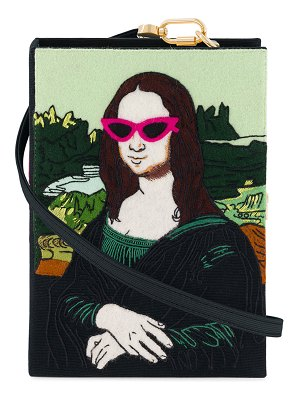 Olympia Le-Tan Mona Lisa Book Clutch Bag
