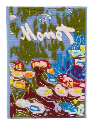 Olympia Le-Tan monet water lillies embroidered book clutch