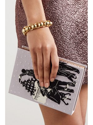 Olympia Le-Tan new year's party 5 appliquéd embroidered canvas clutch