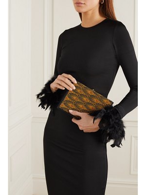 Olympia Le-Tan new year's party embroidered canvas clutch